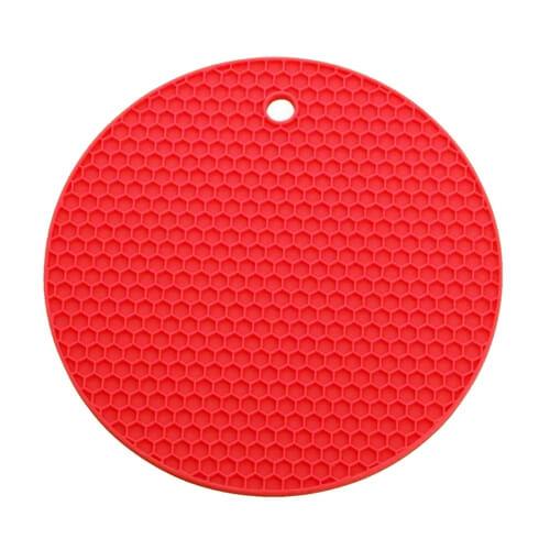 Yuvarlak Silikon Nihale Tencere Tava Altlığı Kırmızı
