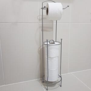 Piev Metal Krom Yedekli Tuvalet Kağıtlığı