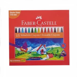 Faber Castell 15 Renk Silinebilir Mum Boya