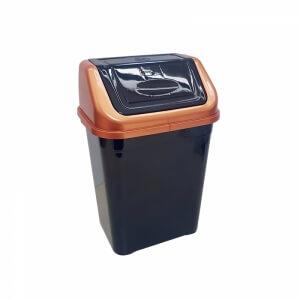 Piev Siyah Bakır Çöp Kovası 5 LT