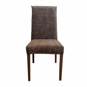 Piev Standart Kadife 6 Lı Kahve Sandalye Kılıfı