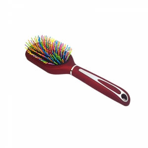 Piev Kırmızı Saplı Renkli Telli Saç Fırçası