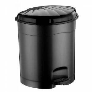 Piev Siyah Pedallı Çöp Kovası 32 Lt