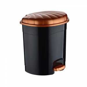 Piev Siyah Pedallı Çöp Kovası 8,5 Lt