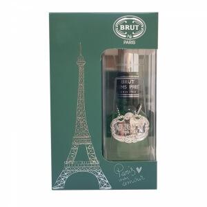 Brut Plexi Madalyonlu Erkek Parfüm Set - 100 ml EDT + Deodorant
