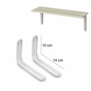 Piev Raf Altı L Ayak Demiri 2 Adet 10 x 14 cm