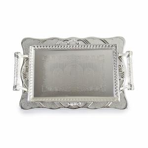 Gümüş Dekoratif Dikdörtgen Tepsi
