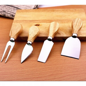 Paslanmaz Çelik Peynir ve Pizza Bıçağı Seti 4 Lü